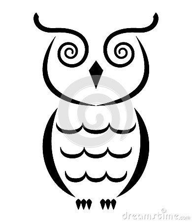 White Owl Drawing.