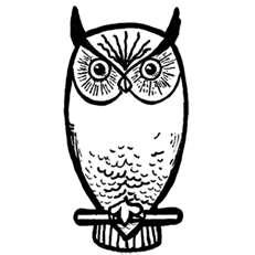 Simple Owl Clipart.