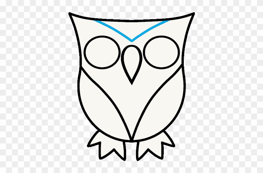 Simple Flying Owl Drawing.
