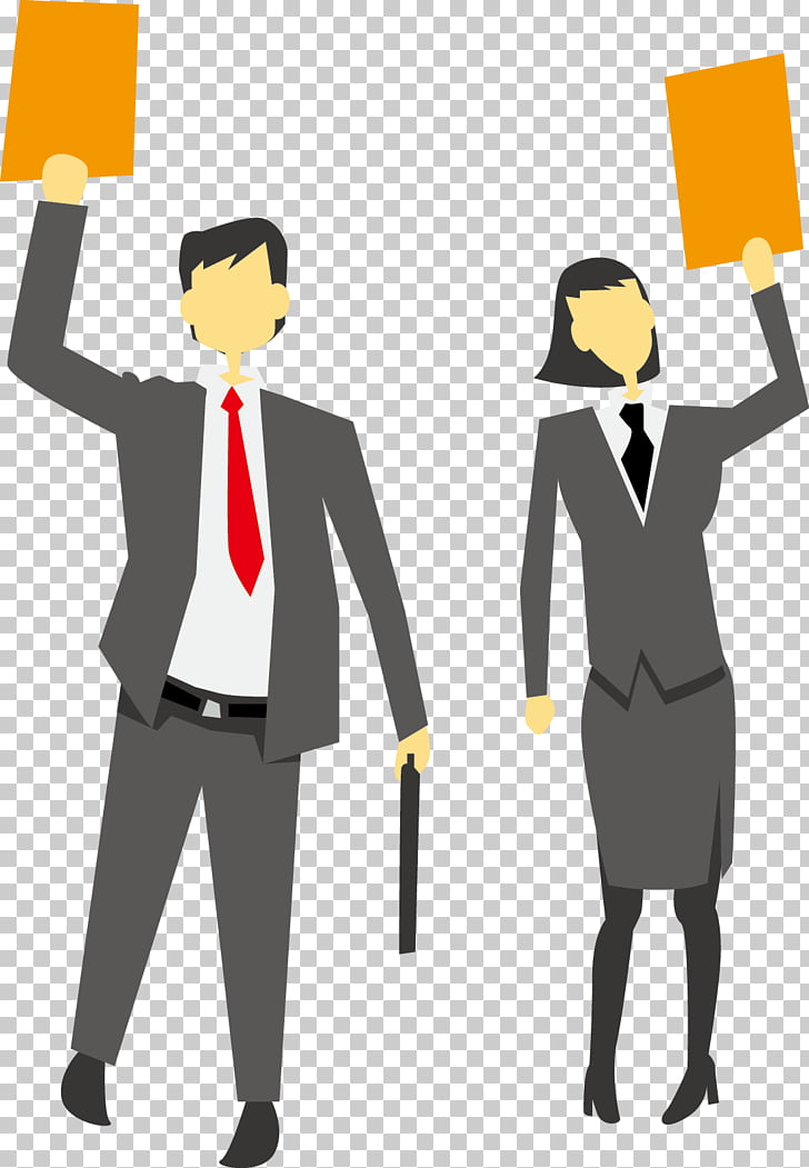 Business Illustration, Simple Business people PNG clipart.