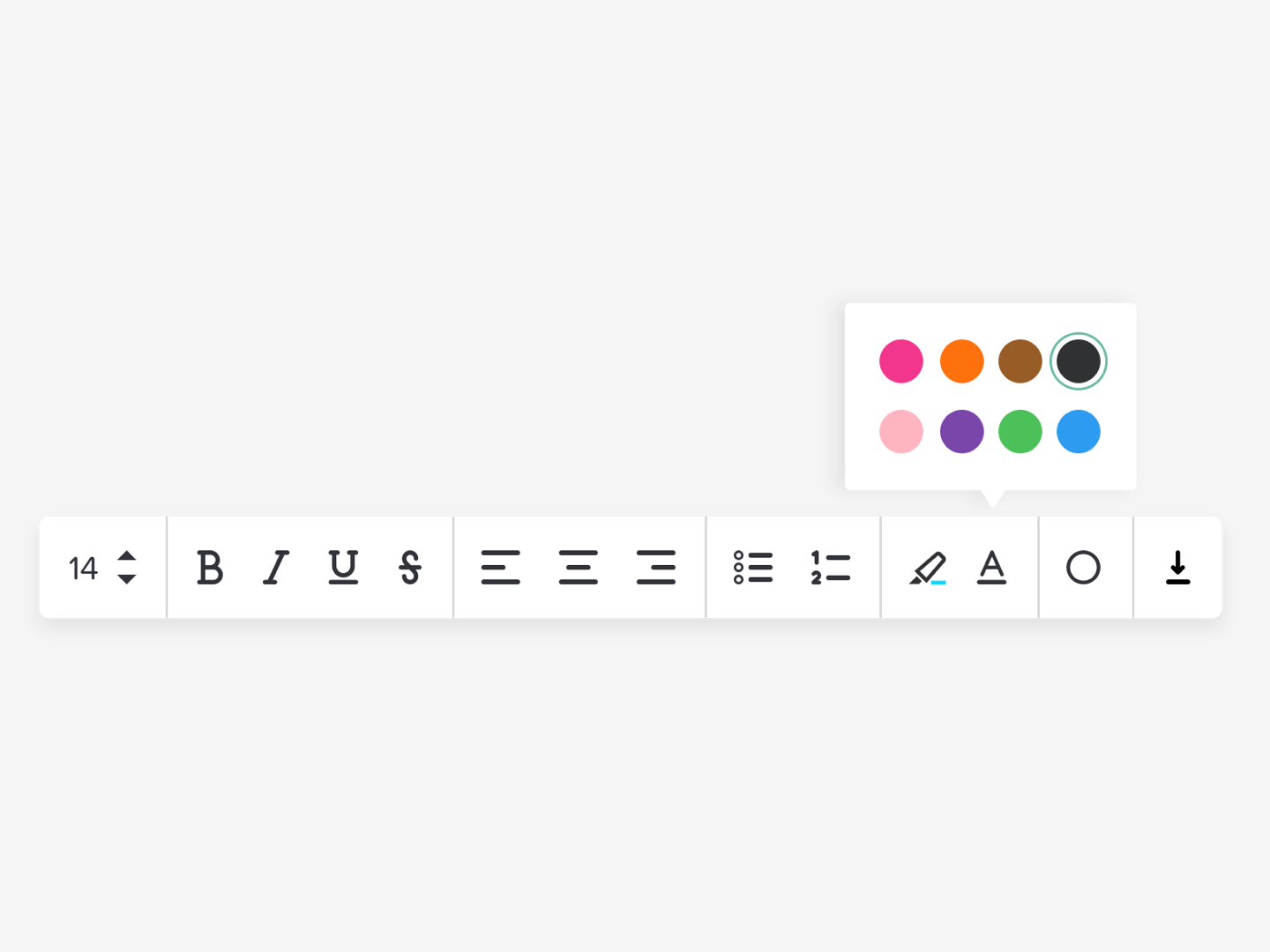 Simple Rich Text Editor by Jess Eddy on Dribbble.