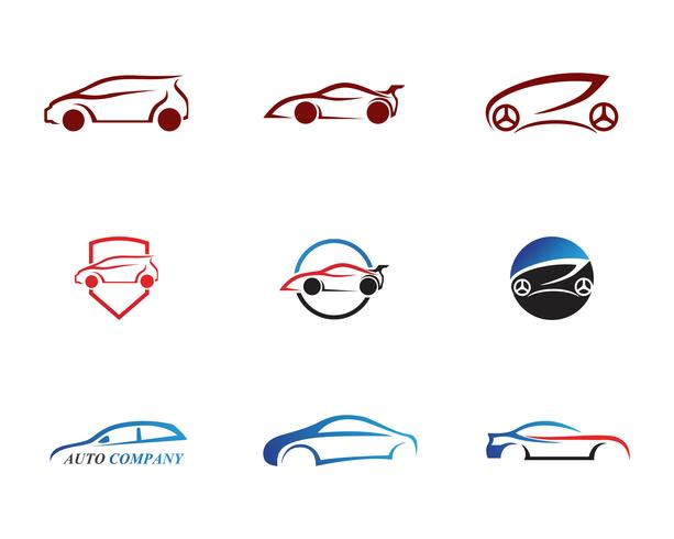 Race car logo, simple design illustration.