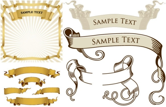 Simple ribbon banner free vector download (12,659 Free vector) for.