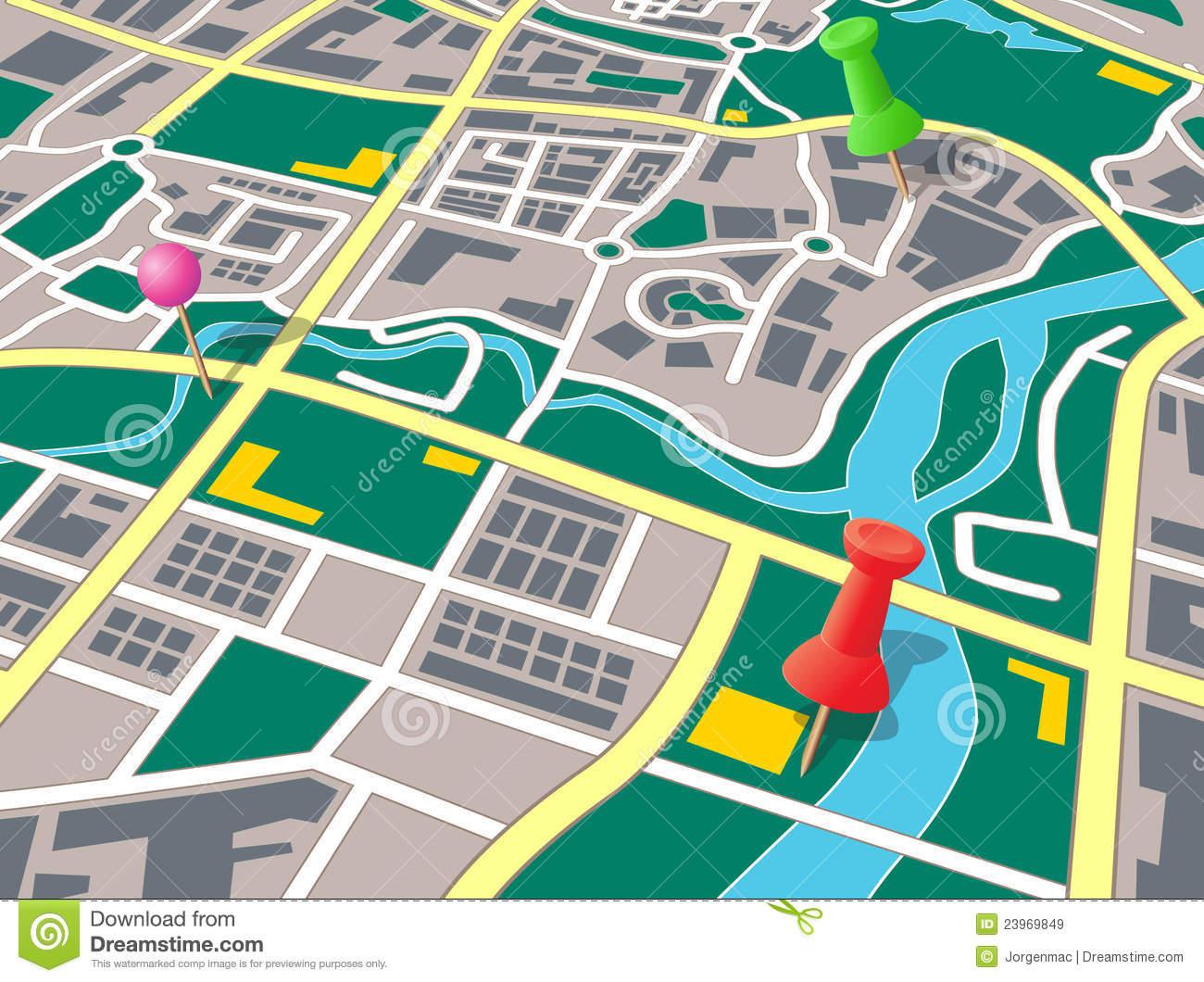 City road map clipart.