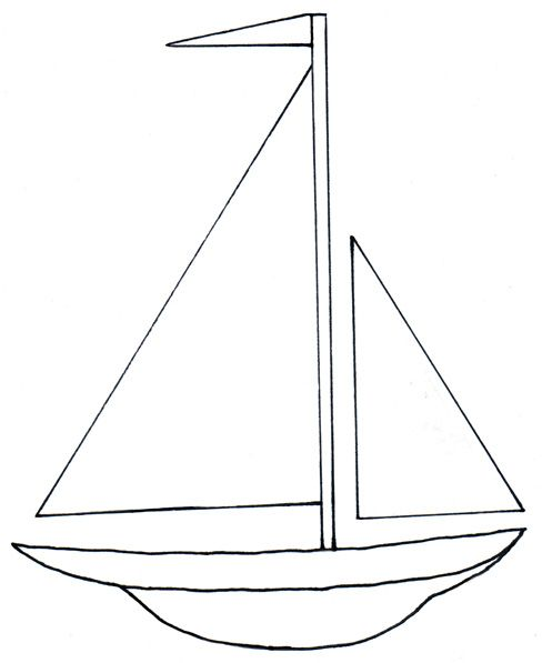 Go Back Gallery For Simple Sailboat Clipart.
