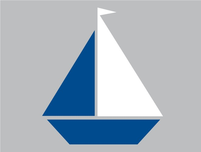 Blue Sailboat Clipart.