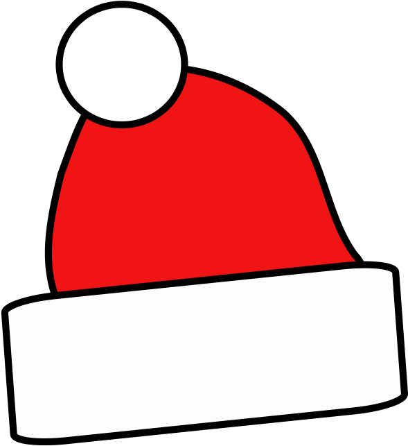 HD Free Simple Santa Cap Clip Art.