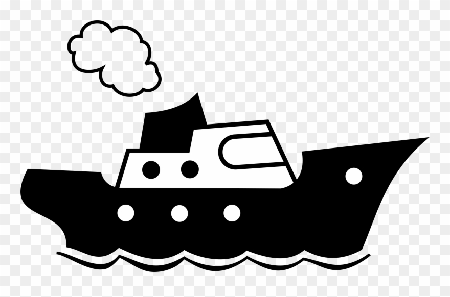 Ship Clipart Icon.