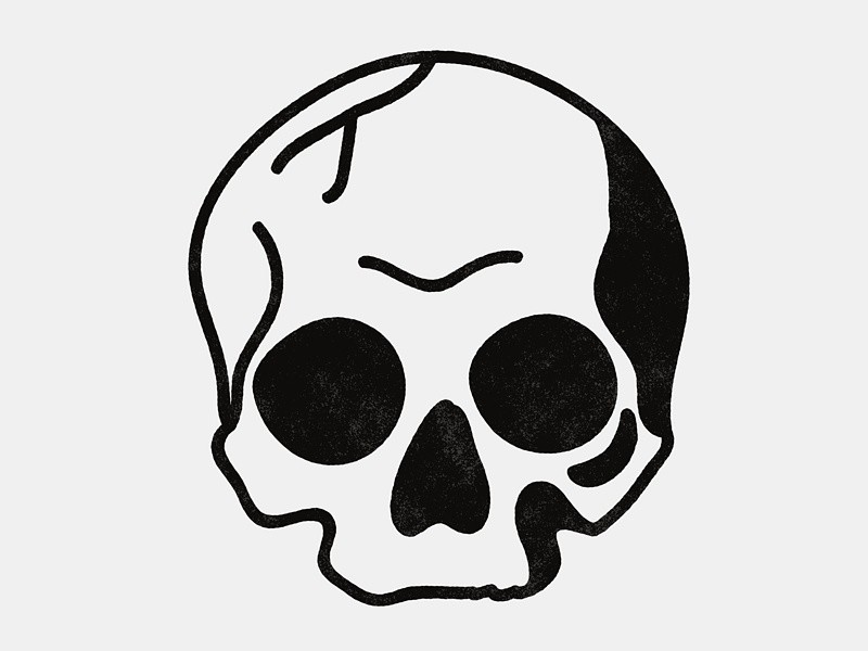 Simple Blackwork Skull in 2019.