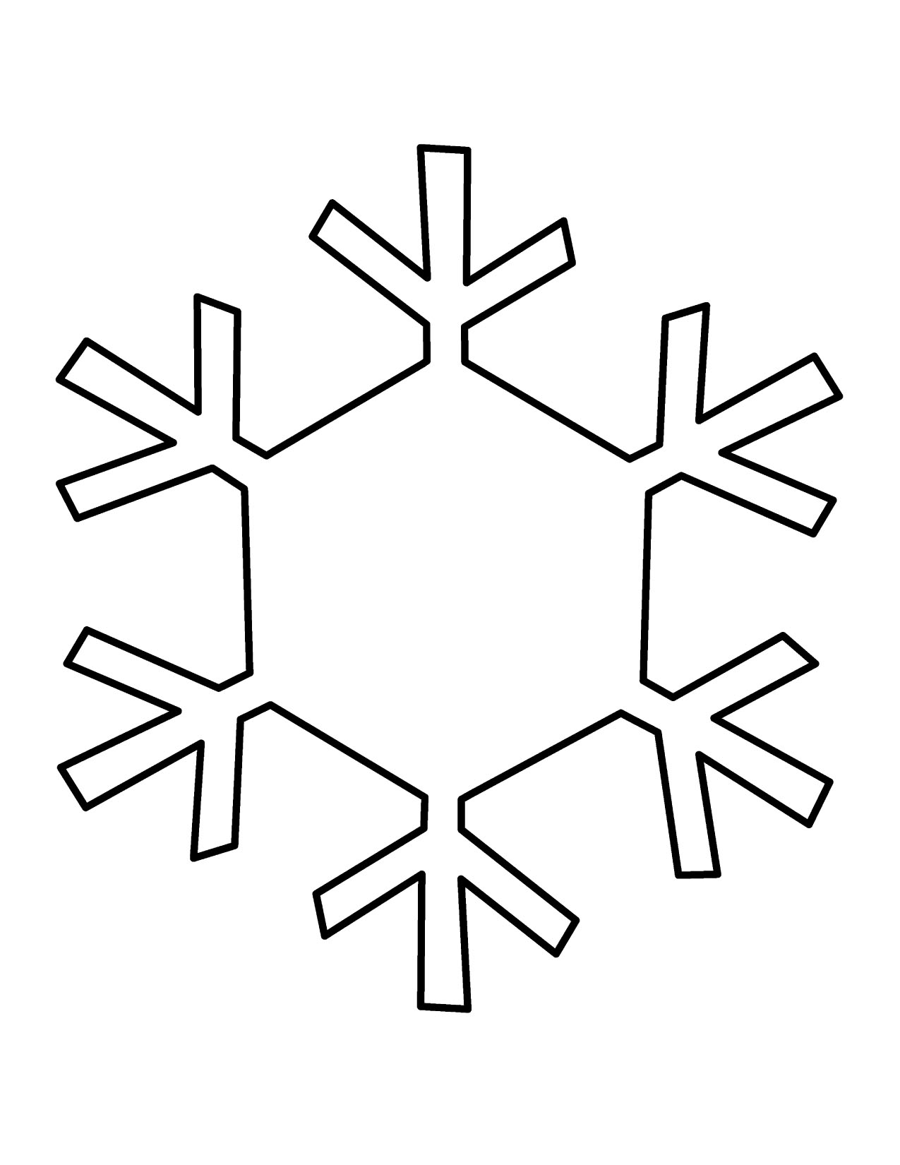 Simple snowflake clipart free clipart images.