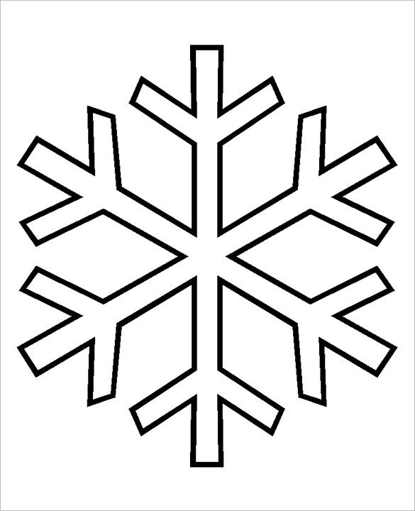 Simple Snowflake Clipart.