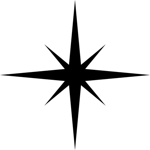 Simple star silhouette.