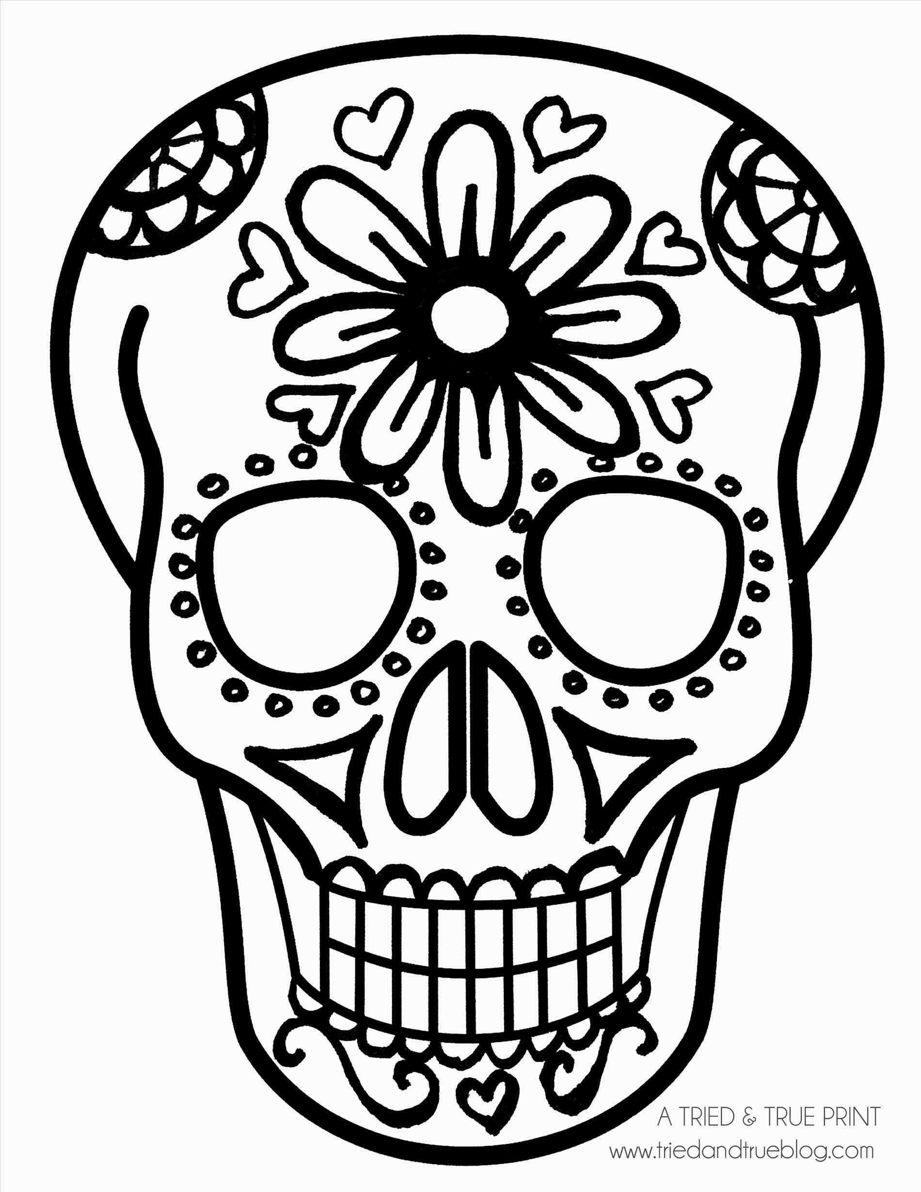 Sugar Skull Clipart Simple.