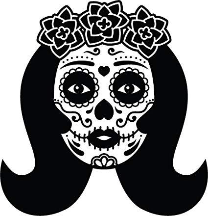Amazon.com: Simple Dia de los Muertos Sugar Skull Female.