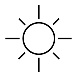 Simple Sun Clipart.