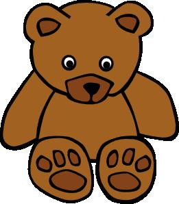 Simple Teddy Bear clip art.