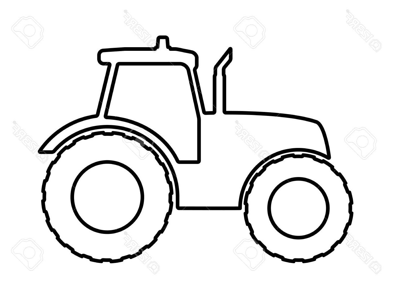 Outline Drawing Of Tractor at PaintingValley.com.