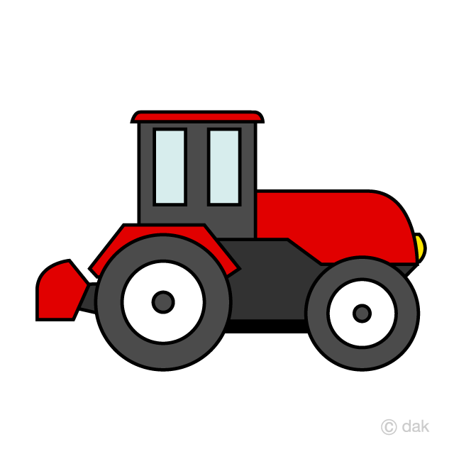 Simple Tractor Clipart Free Picture|Illustoon.