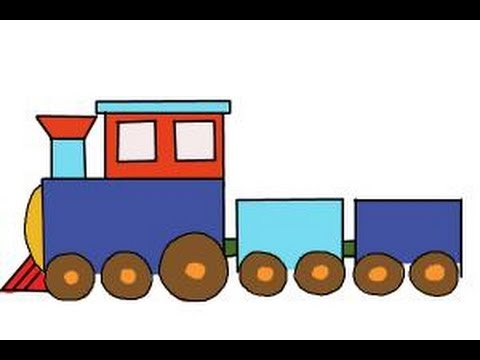 How to draw a simple train.