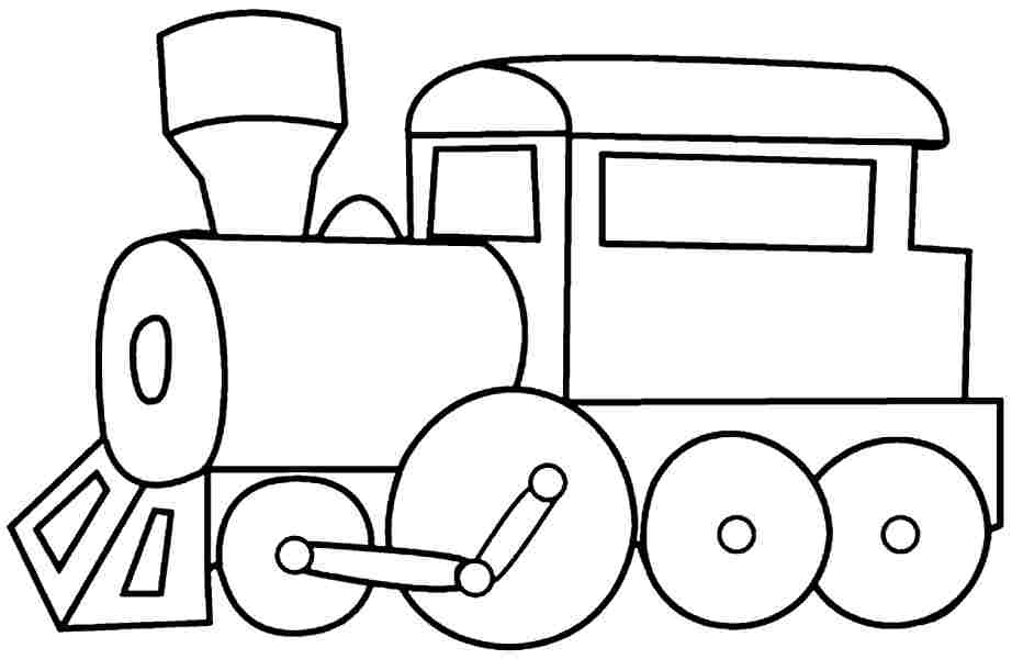 train conductor coloring page - simple train clipart clipground