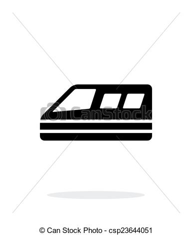 Clipart Vector of Train simple icon on white background. Vector.