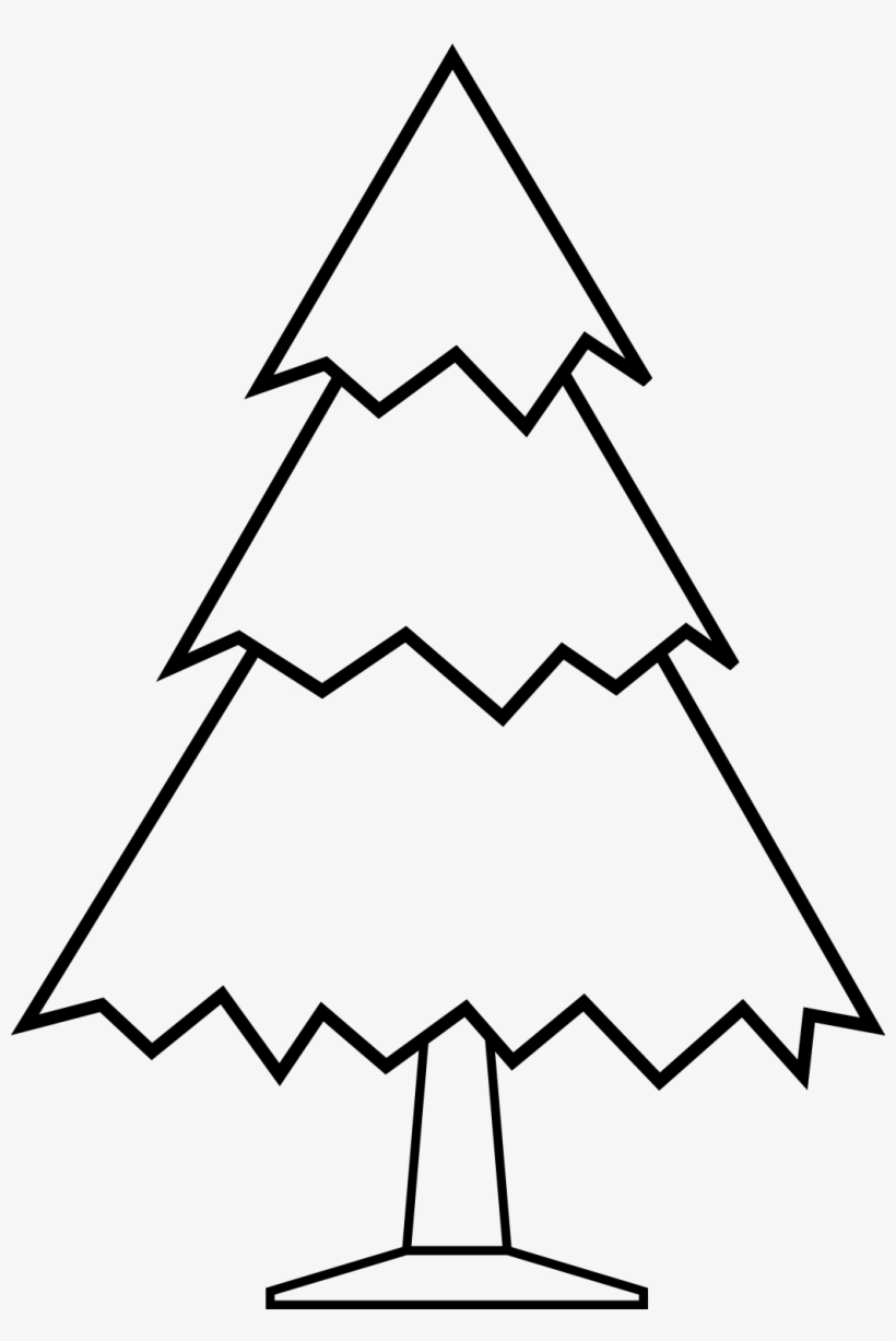 Simple Christmas Tree Free Digital Stamp.