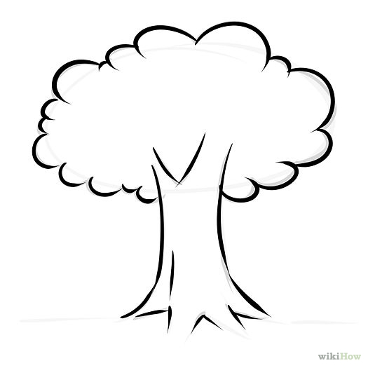 Free Simple Tree Clipart Black And White, Download Free Clip.