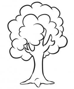 How to Draw a Simple Tree, Step by Step, Trees, Pop Culture.