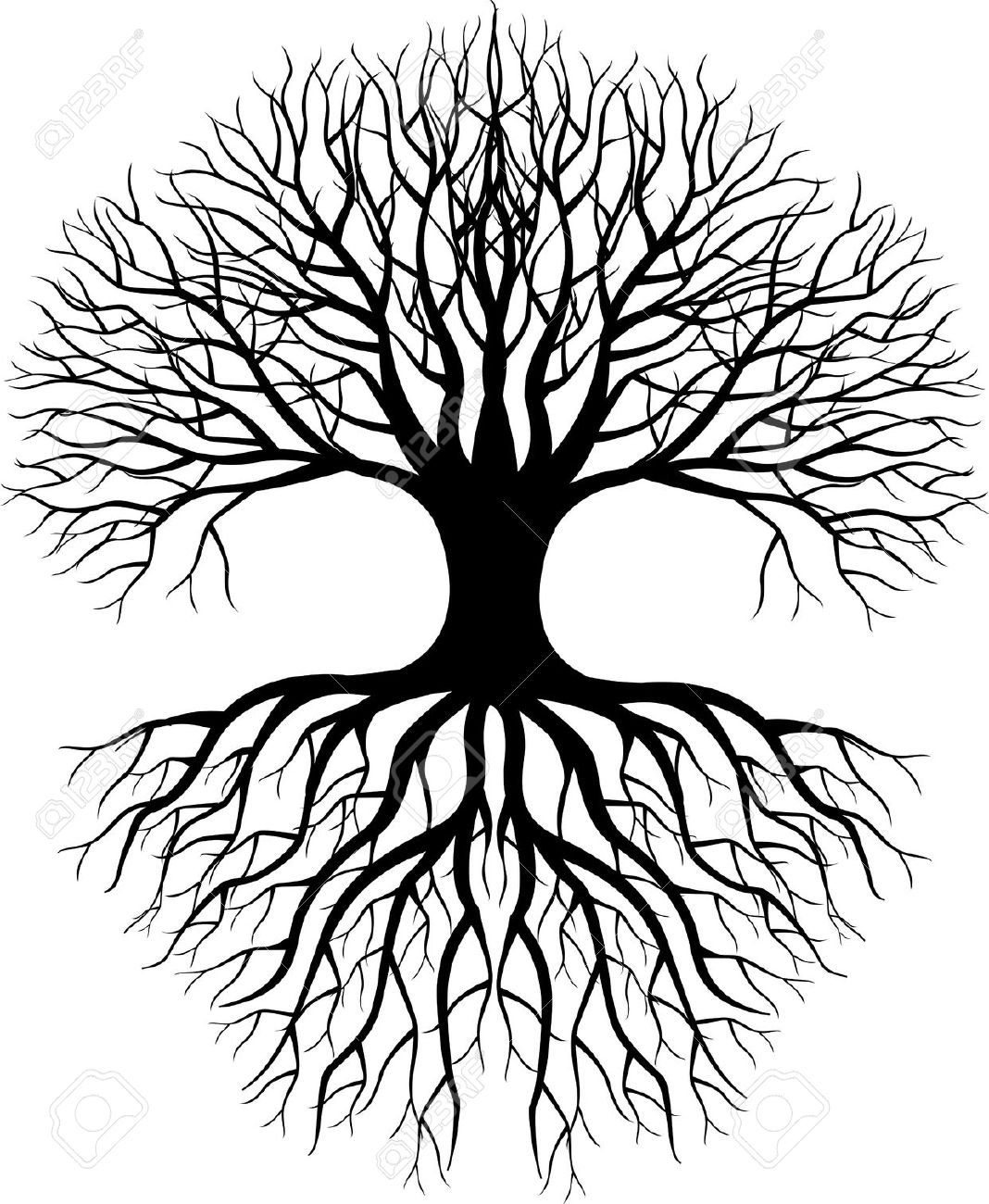 Tree Silhouette Royalty Free Cliparts, Vectors, And Stock.