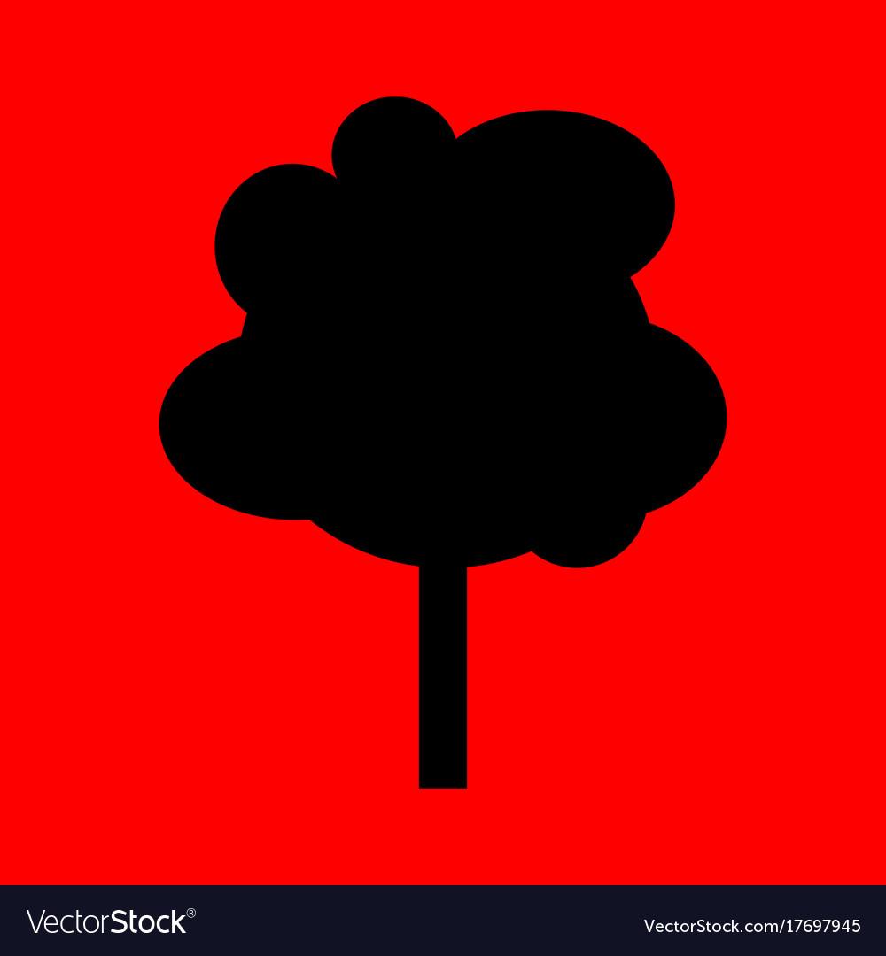 Simple cartoon tree silhouette.