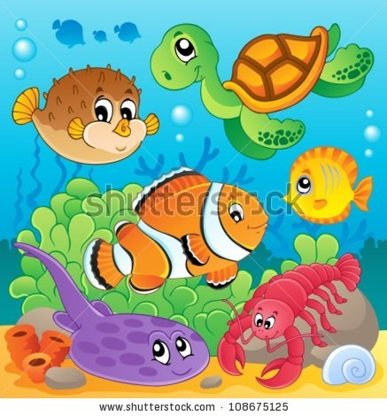 jellyfish in the sea clipart.
