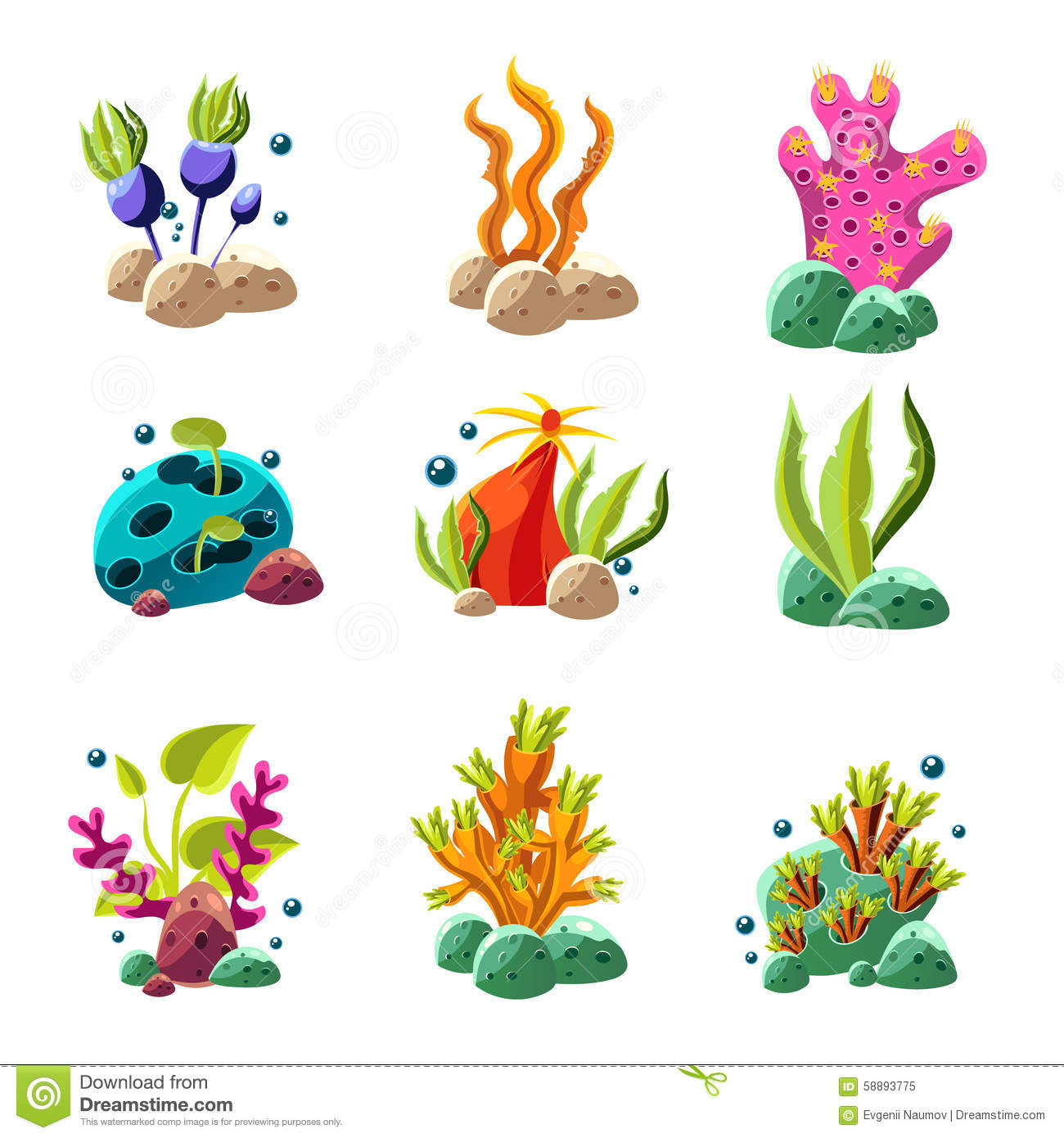 Cartoon Sea Creatures Stock Photos, Images, & Pictures.