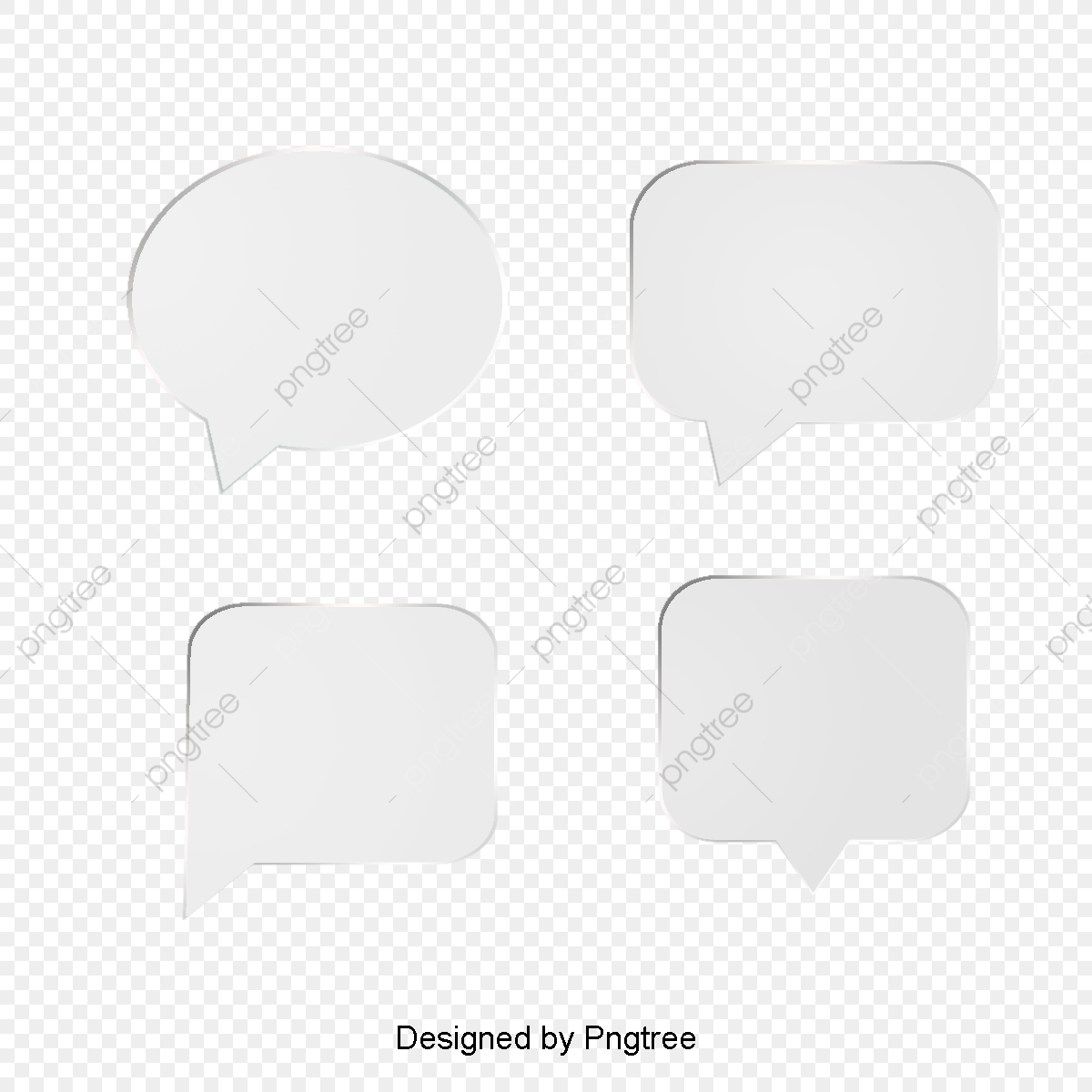 Four Simple White Frame Vector, Frame, Frame Vector, Border.