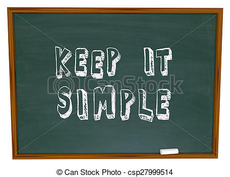 Clipart of Keep it Simple Words Chalkboard Simplicity Advice.