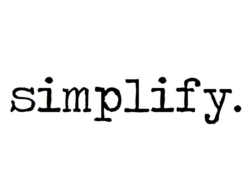 Simplify..
