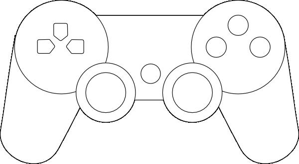 Simplified Controller Clip Art.