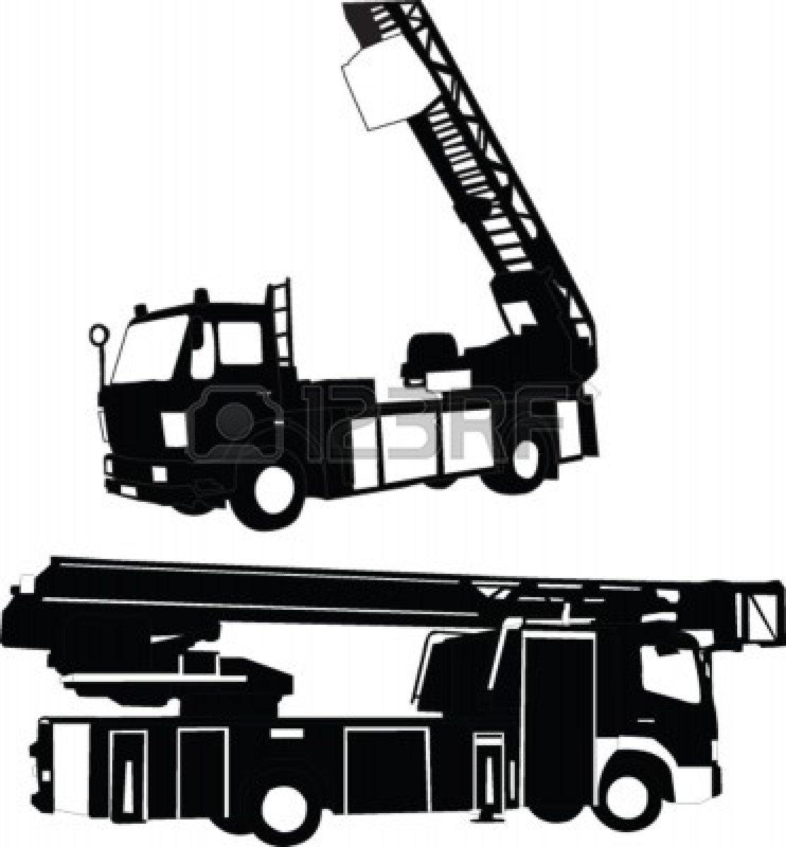Simplified Firefighter Truck Clipart.