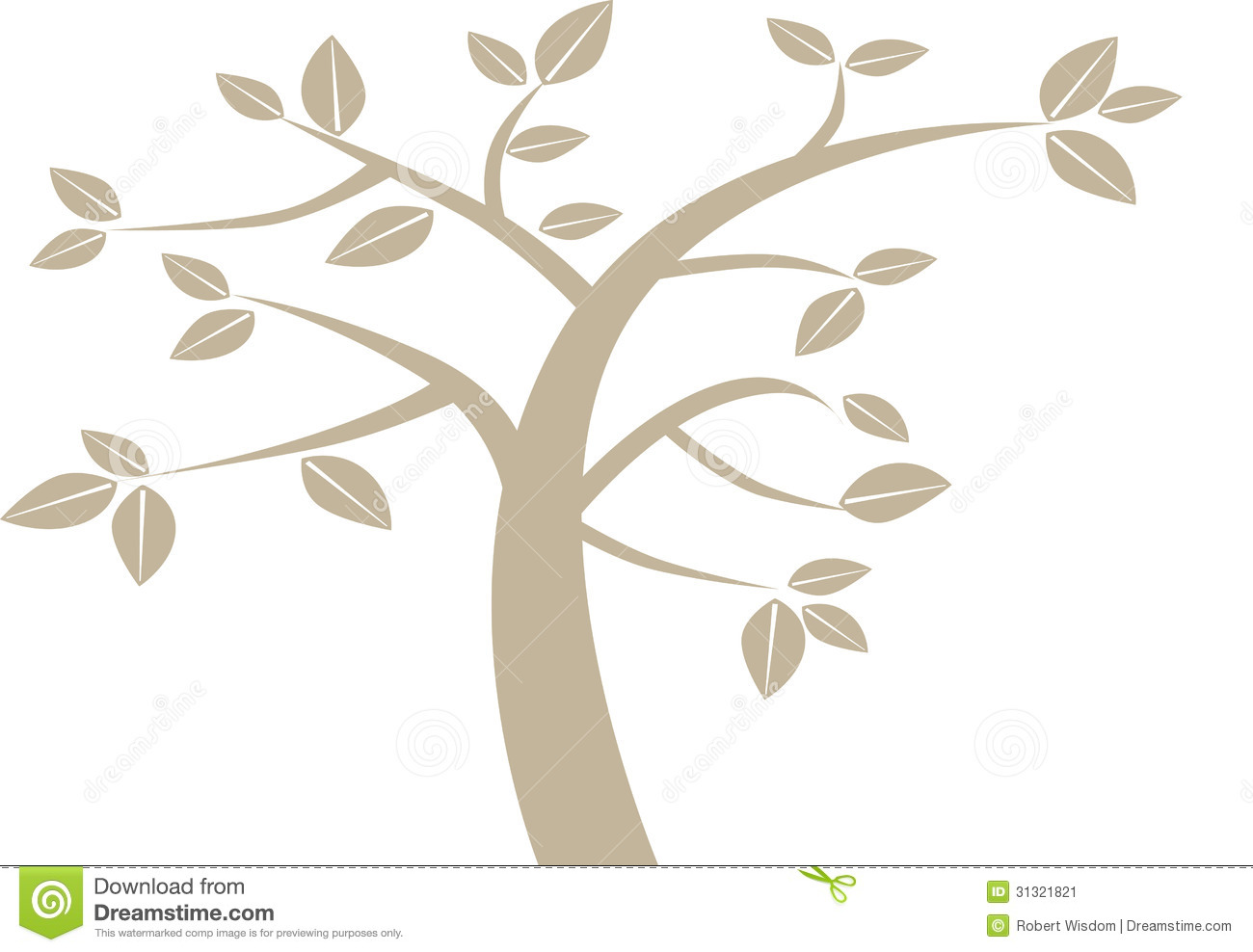 Simplified tree clipart.