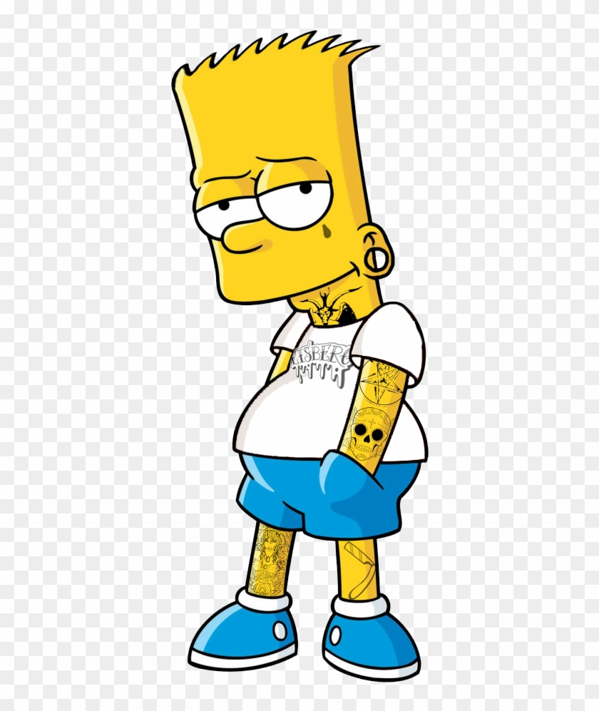 Transparent Hardcore Bart Simpson.