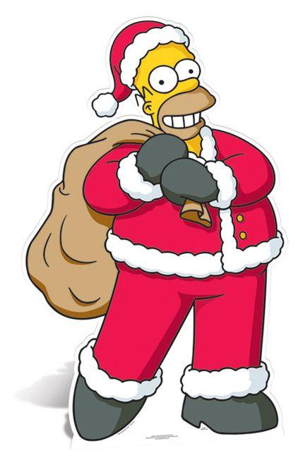 Homer Simpson Santa Claus Lifesize Cardboard Cutout.