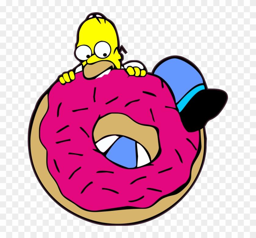 Simpsons Donut Png Transparent Background.
