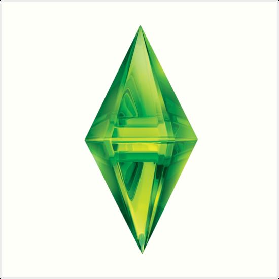 \'Sims Diamond\' Art Print by Xinoni.