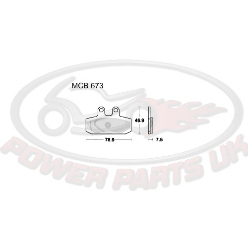 BRAKE PADS STD TRW ALTN 7320575 For Honda CA 125 Rebel.
