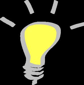 Thinking Light Bulb Clip Art.