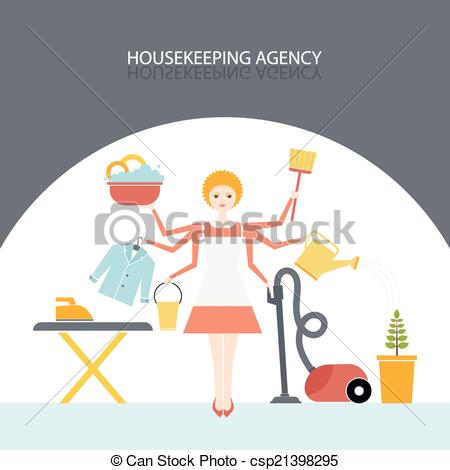 EPS Vectors of Housekeeping Agency.