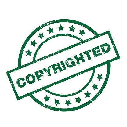 Urheberrechtlich Geschützt premium clipart.