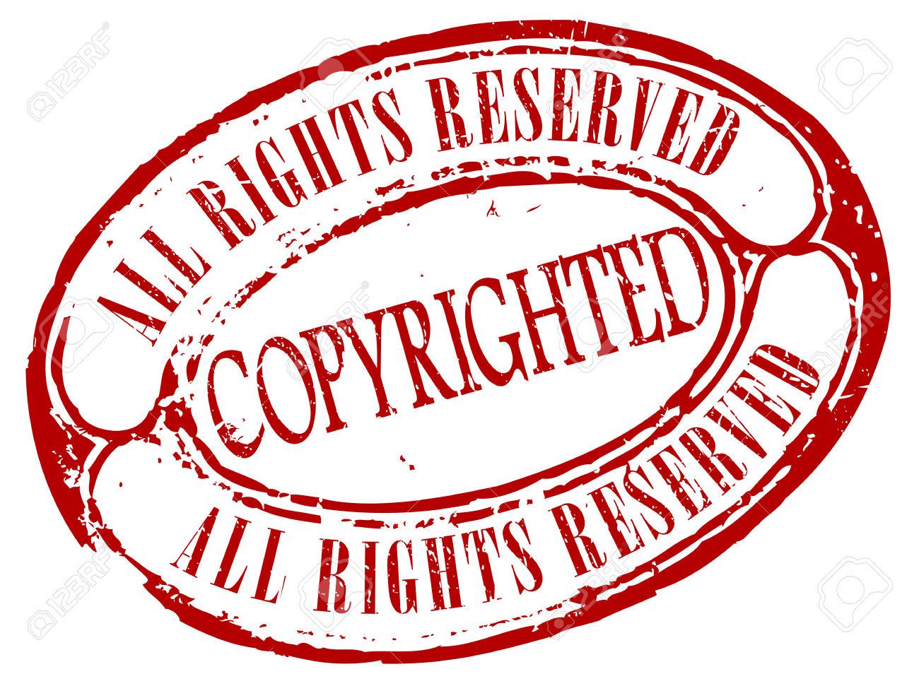 Retro Urheberrechtlich Geschützt Stempel Lizenzfrei Nutzbare.