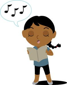 Image result for sing, clipart.