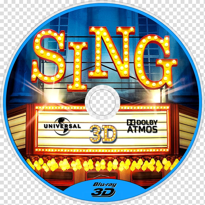 Sing 3D film Illumination Cinema, sing movie transparent.