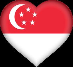 Singapore flag clipart.